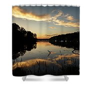 Reflections Of Sailboat Cove Shower Curtain