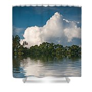 Reflections Of Trees And Clouds Shower Curtain
