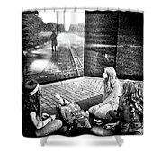 Reflections Of War Shower Curtain