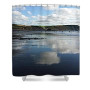 Reflections Of Widemouth Bay Shower Curtain