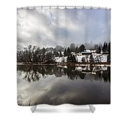 Reflections Of Winter Flood Shower Curtain