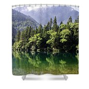 Reflections On Arrow Bamboo Lake Shower Curtain