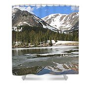 Reflections On Chinns Lake 5 Shower Curtain