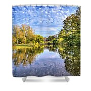 Reflections On Cibolo Creek Shower Curtain