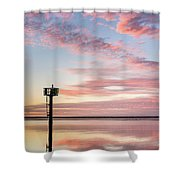Reflections On Falling Dusk Shower Curtain