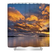 Reflections On Fire Sunset Shower Curtain