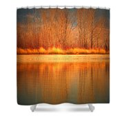 Reflections On Fire Shower Curtain