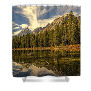 Reflections On Jenny Lake Shower Curtain