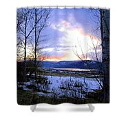 Reflections On Lake Okanagan Shower Curtain