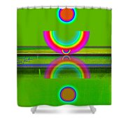 Reflections On Lime Shower Curtain