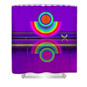 Reflections On Mauve Shower Curtain