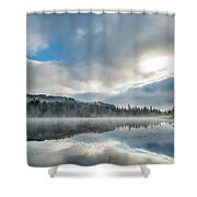 Reflections On Reflection Lake 5 Shower Curtain