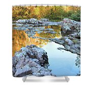 Reflections On Rocky Creek 2 Shower Curtain