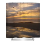 Reflections On The Beach Shower Curtain