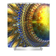 Reflections On The Day Just Beginning Shower Curtain