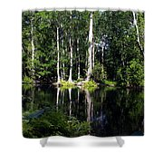 Reflections On The Ocklawaha River  Shower Curtain