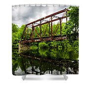 Reflections On The River Shower Curtain