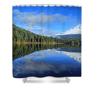 Reflections On Trillium Shower Curtain