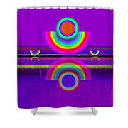 Reflections On Violet Shower Curtain