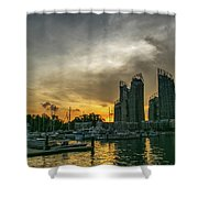 Reflections Singapore Shower Curtain