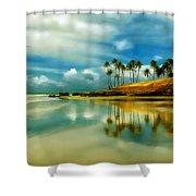 Reflective Beach Shower Curtain