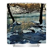 Reflective Chill Shower Curtain