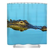 Reflective Gator Shower Curtain