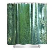 Reflective In Aqua Shower Curtain