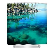 Reflective Liquid Dreams Shower Curtain