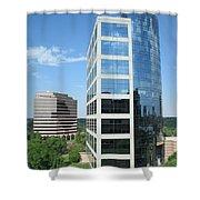 Reflective Mirror Architecture Shower Curtain