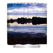 Reflective River  Shower Curtain