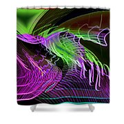 Reflexions Green Shower Curtain