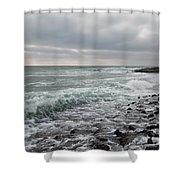 Reflux Shower Curtain