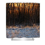 Refracting Snow   Shower Curtain