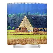 Refuge Barn Shower Curtain