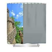 Regaleira Tower Sintra Shower Curtain