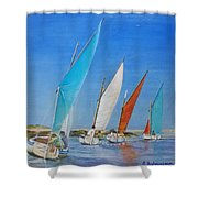 Regate De Chausey Shower Curtain