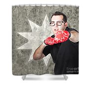 Regular Guy Exercising. Bootcamp Fitness Workout Shower Curtain by Jorgo Photography - Wall Art Gallery