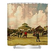 Rehoboth Beach In Fall Shower Curtain