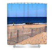 Rehoboth Beach Panorama Shower Curtain