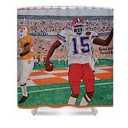 Florida - Tennessee Football Shower Curtain