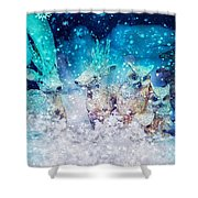 Reindeer And Owls Holiday Celebration Shower Curtain