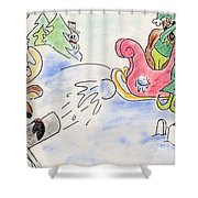 Reindeer Games Shower Curtain