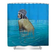 Rela In The Sea Shower Curtain
