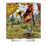 Relax And Watch The Leaves Turn Shower Curtain