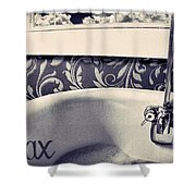 Relax In Blue Shower Curtain