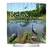 Relax Lake Time-jp2737 Shower Curtain