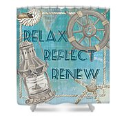 Relax Reflect Renew Shower Curtain