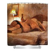 Relax With Me By Mary Bassett Shower Curtain
