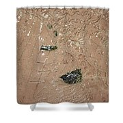 Relaxation - Tile Shower Curtain